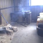 Kitchen, Cooking Is By Log Fire